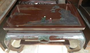 漆塗の花台、花梨の飾り台ほか