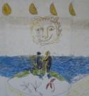 アクリル絵具/クレヨン画 作者 Santi Moix