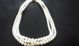 本真珠/K18金具 3連ネックレス
