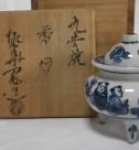 九谷焼の香炉、竹材の鳥籠ほか