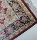 クムシルク 手織りペルシャ絨毯