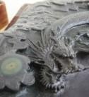 雲龍紋端硯