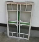 色ガラス入り 古建具