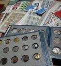 切手と古銭のコレクション、お茶道具
