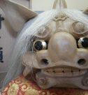 井波町伝統工芸士・荒井寿斎の木彫、北村西望のブロンズ像など