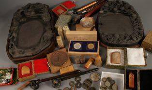 中国書道具、古銭、掛け軸など