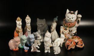 猫の置物コレクション いろいろ