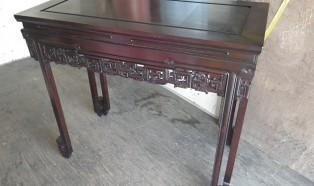 中国唐木家具 花梨材飾り棚