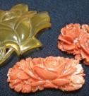 赤珊瑚(サンゴ) 鼈甲 帯留め