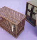 乃木将軍の書、竹細工の鳥籠など